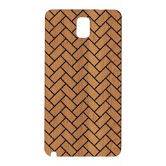 Brick2 Black Marble & Light Maple Wood (r) Samsung Galaxy Note 3 N9005 Hardshell Back Case by trendistuff