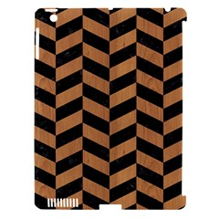 Chevron1 Black Marble & Light Maple Wood Apple Ipad 3/4 Hardshell Case (compatible With Smart Cover) by trendistuff