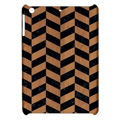 Chevron1 Black Marble & Light Maple Wood Apple Ipad Mini Hardshell Case by trendistuff