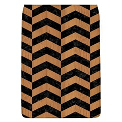 Chevron2 Black Marble & Light Maple Wood Flap Covers (l)  by trendistuff