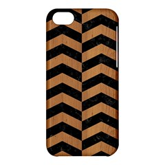 Chevron2 Black Marble & Light Maple Wood Apple Iphone 5c Hardshell Case by trendistuff