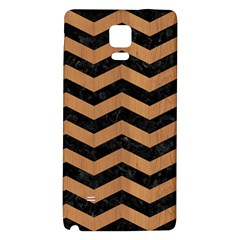 Chevron3 Black Marble & Light Maple Wood Galaxy Note 4 Back Case by trendistuff