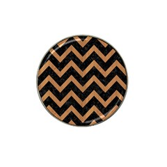 Chevron9 Black Marble & Light Maple Wood Hat Clip Ball Marker (4 Pack) by trendistuff