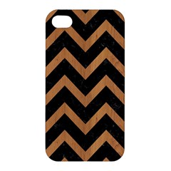 Chevron9 Black Marble & Light Maple Wood Apple Iphone 4/4s Hardshell Case by trendistuff