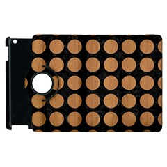 Circles1 Black Marble & Light Maple Wood Apple Ipad 2 Flip 360 Case by trendistuff