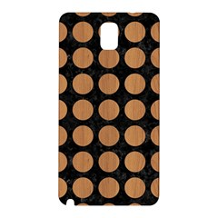 Circles1 Black Marble & Light Maple Wood Samsung Galaxy Note 3 N9005 Hardshell Back Case