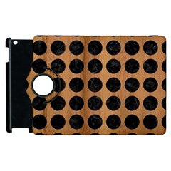 Circles1 Black Marble & Light Maple Wood (r) Apple Ipad 2 Flip 360 Case by trendistuff