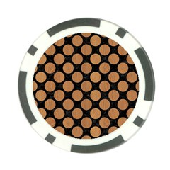 Circles2 Black Marble & Light Maple Wood Poker Chip Card Guard (10 Pack) by trendistuff