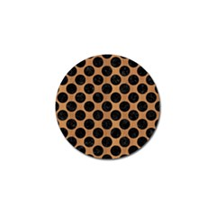 Circles2 Black Marble & Light Maple Wood (r) Golf Ball Marker (10 Pack) by trendistuff