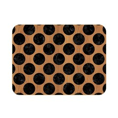 Circles2 Black Marble & Light Maple Wood (r) Double Sided Flano Blanket (mini)  by trendistuff