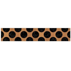 Circles2 Black Marble & Light Maple Wood (r) Flano Scarf (large) by trendistuff
