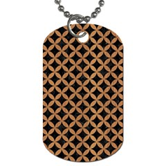 Circles3 Black Marble & Light Maple Wood Dog Tag (two Sides) by trendistuff