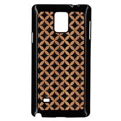 Circles3 Black Marble & Light Maple Wood Samsung Galaxy Note 4 Case (black) by trendistuff