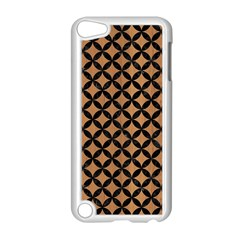Circles3 Black Marble & Light Maple Wood (r) Apple Ipod Touch 5 Case (white) by trendistuff