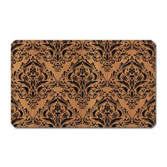 Damask1 Black Marble & Light Maple Wood (r) Magnet (rectangular) by trendistuff
