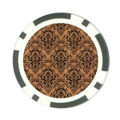 Damask1 Black Marble & Light Maple Wood (r) Poker Chip Card Guard (10 Pack) by trendistuff