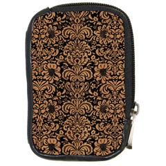 Damask2 Black Marble & Light Maple Wood Compact Camera Cases by trendistuff