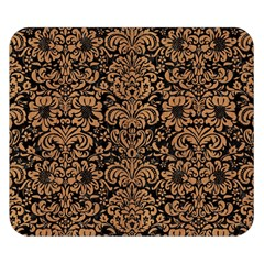 Damask2 Black Marble & Light Maple Wood Double Sided Flano Blanket (small)  by trendistuff