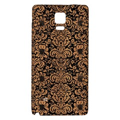 Damask2 Black Marble & Light Maple Wood Galaxy Note 4 Back Case by trendistuff