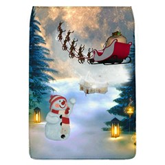 Christmas, Snowman With Santa Claus And Reindeer Flap Covers (l)  by FantasyWorld7