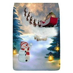 Christmas, Snowman With Santa Claus And Reindeer Flap Covers (s)  by FantasyWorld7