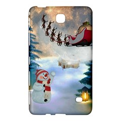 Christmas, Snowman With Santa Claus And Reindeer Samsung Galaxy Tab 4 (7 ) Hardshell Case  by FantasyWorld7