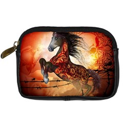 Awesome Creepy Running Horse With Skulls Digital Camera Cases by FantasyWorld7