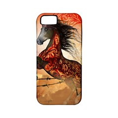 Awesome Creepy Running Horse With Skulls Apple Iphone 5 Classic Hardshell Case (pc+silicone) by FantasyWorld7