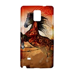 Awesome Creepy Running Horse With Skulls Samsung Galaxy Note 4 Hardshell Case by FantasyWorld7