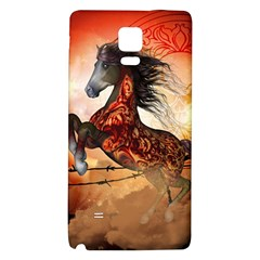 Awesome Creepy Running Horse With Skulls Galaxy Note 4 Back Case by FantasyWorld7