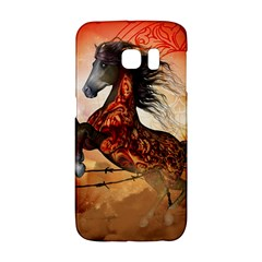 Awesome Creepy Running Horse With Skulls Galaxy S6 Edge by FantasyWorld7