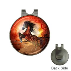 Awesome Creepy Running Horse With Skulls Hat Clips With Golf Markers by FantasyWorld7