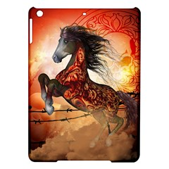 Awesome Creepy Running Horse With Skulls Ipad Air Hardshell Cases by FantasyWorld7
