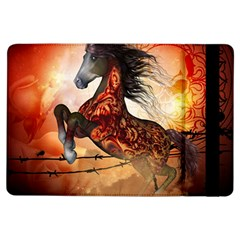 Awesome Creepy Running Horse With Skulls Ipad Air Flip by FantasyWorld7