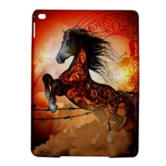 Awesome Creepy Running Horse With Skulls Ipad Air 2 Hardshell Cases by FantasyWorld7
