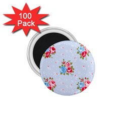 Cute Shabby Chic Floral Pattern 1 75  Magnets (100 Pack)  by 8fugoso