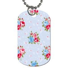 Cute Shabby Chic Floral Pattern Dog Tag (two Sides) by 8fugoso