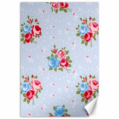 Cute Shabby Chic Floral Pattern Canvas 12  X 18   by 8fugoso