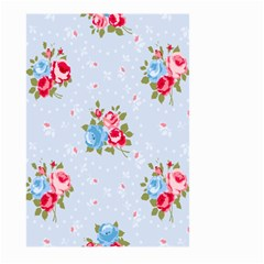 Cute Shabby Chic Floral Pattern Large Garden Flag (two Sides) by 8fugoso