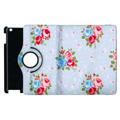 Cute Shabby Chic Floral Pattern Apple Ipad 2 Flip 360 Case by 8fugoso