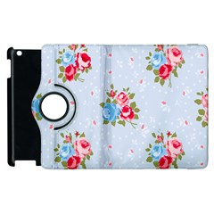 Cute Shabby Chic Floral Pattern Apple Ipad 3/4 Flip 360 Case by 8fugoso