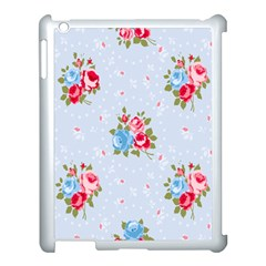 Cute Shabby Chic Floral Pattern Apple Ipad 3/4 Case (white) by 8fugoso
