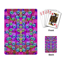 Festive Metal And Gold In Pop Art Playing Card by pepitasart
