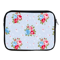 Cute Shabby Chic Floral Pattern Apple Ipad 2/3/4 Zipper Cases by 8fugoso