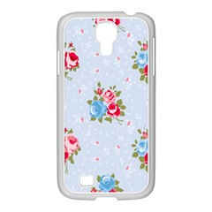 Cute Shabby Chic Floral Pattern Samsung Galaxy S4 I9500/ I9505 Case (white) by 8fugoso