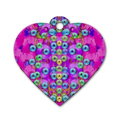 Festive Metal And Gold In Pop Art Dog Tag Heart (one Side) by pepitasart