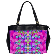Festive Metal And Gold In Pop Art Office Handbags (2 Sides)  by pepitasart