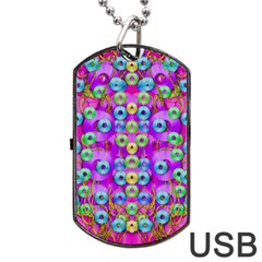 Festive Metal And Gold In Pop Art Dog Tag Usb Flash (one Side) by pepitasart