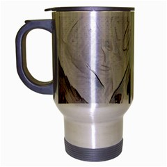 French Coffee Style Abstract Art Travel Mug (silver Gray) by 8fugoso