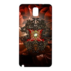 Wonderful Floral Design With Diamond Samsung Galaxy Note 3 N9005 Hardshell Back Case by FantasyWorld7